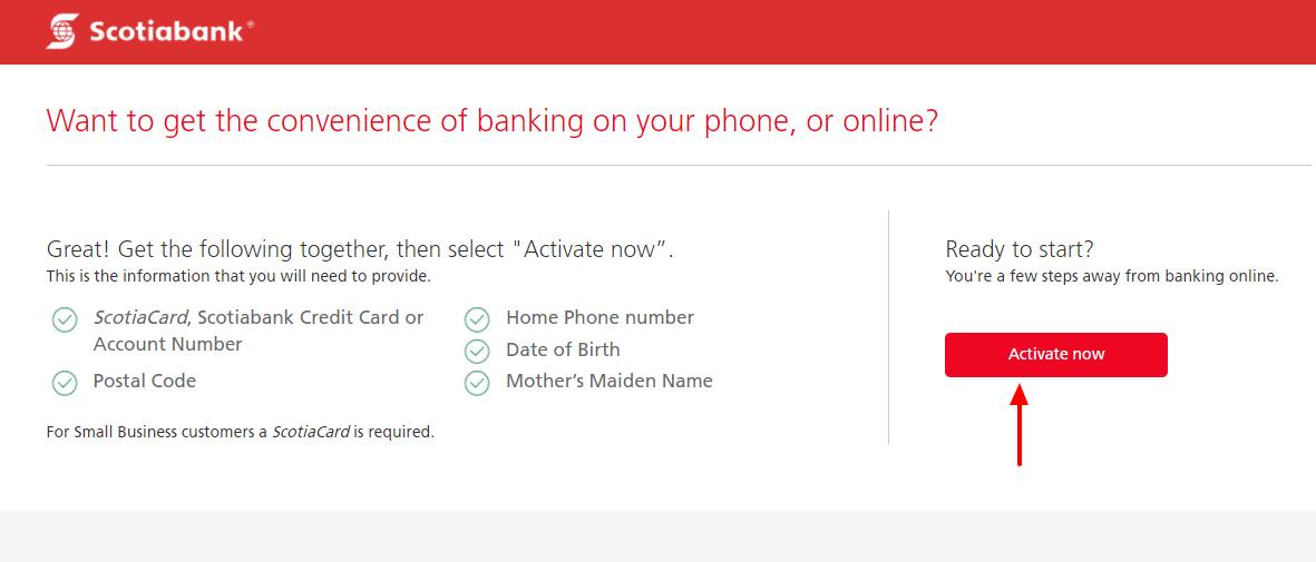 activate scotiabank card